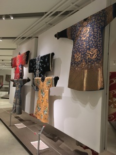 Imperial Chinese 'long pao', 19th century Layers of Influence exhibtion, MOA at UBC Photo cred: Lauren Chancellor