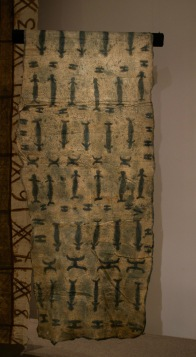 Tapa cloth (from bark) from Solomon Islands. Layers of Influence exhibtion, MOA at UBC Photo cred: Lauren Chancellor