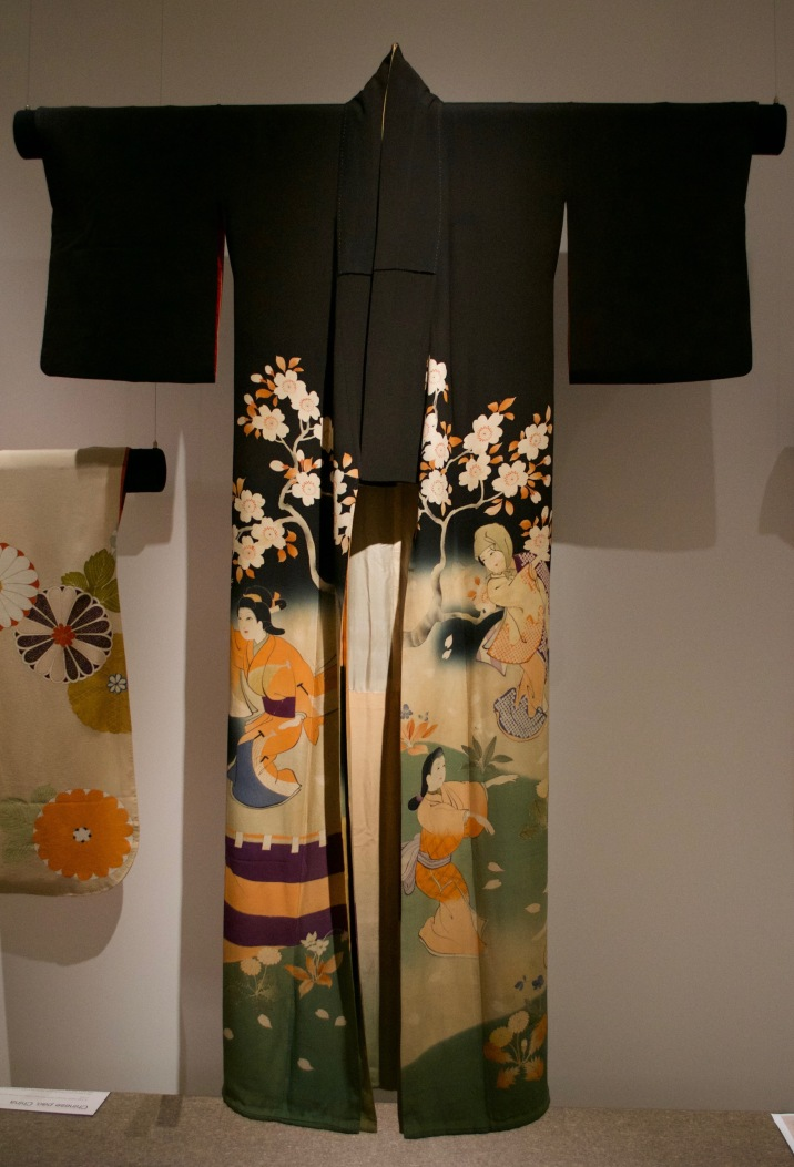 Japanese kimono for a married woman. Layers of Influence exhibtion, MOA at UBC Photo cred: Lauren Chancellor
