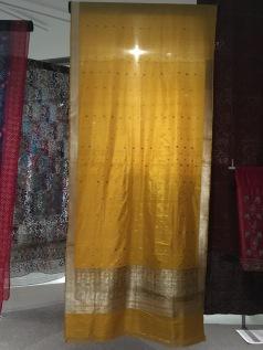 'Benares sari' India Layers of Influence exhibtion, MOA at UBC Photo cred: Lauren Chancellor