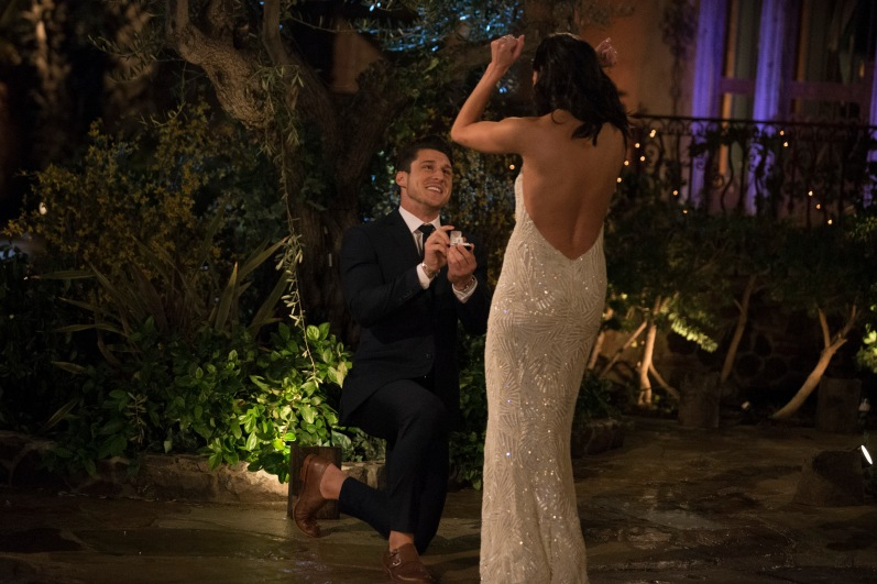Connor matched Becca's introduction from Arie's season by getting down on one knee and asking her to 'do the damn thing'. I thought he might have been one of the cocky pretty-boy guys, but so far I'm feeling it.