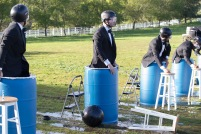 The men were forced into barrels of ice water for a minute. Is this to simulate when your aging husband can't get it up?