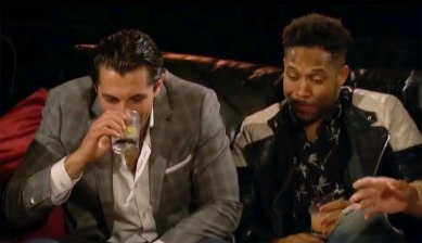 In the evening, Jordan and David really duke it out... but the best and most entertaining part was how much Jason and Wills couldn't keep it together, laughing into their drinks...