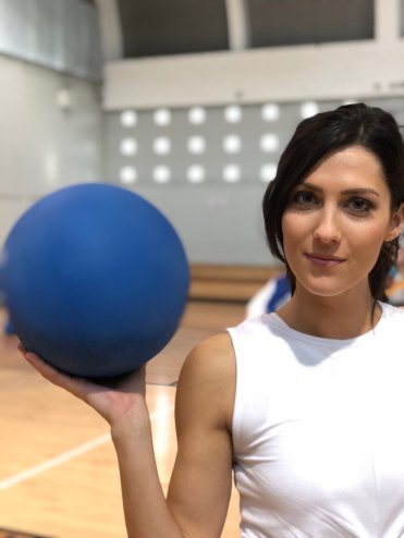 Becca brought the men to a dodgeball competition, and ended up getting a few hits from Christon