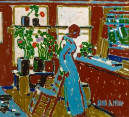David Milne - Red, 1914 A signature element to many of Milne's works was his use of colour. His focus on capturing the elusive and trying to portray what was in his mind led to a use of colour that gave understanding but provided the viewer with no verisimilitude to reality.